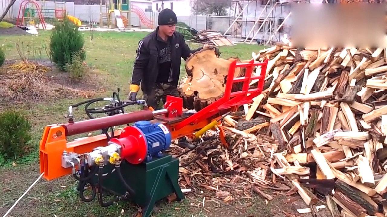 农村自制碎木机,简单方便,农村用非常合适