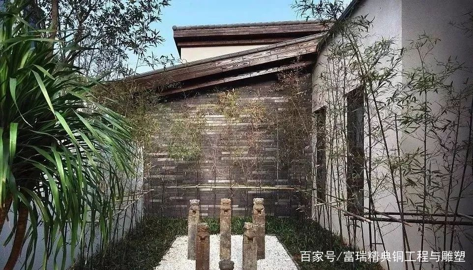 庭院,中式,铜门,铜窗,复古