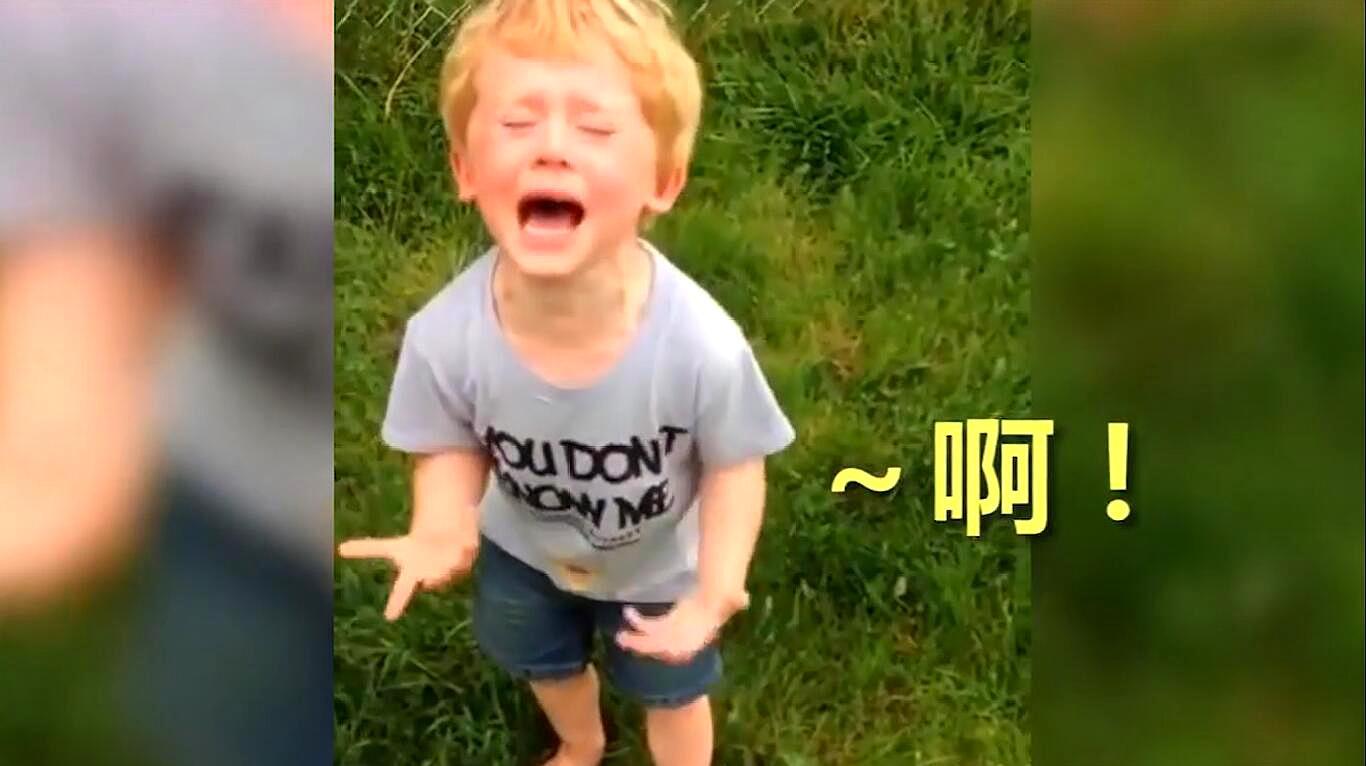 宝宝在院子里踩到大便后,大喊大叫,接下来的画面,爸爸哭笑不得
