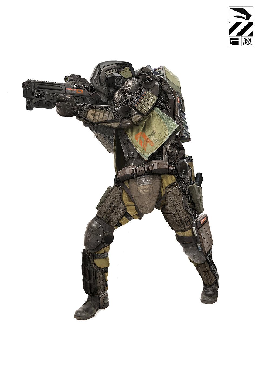 未来战士?单兵外骨骼作战系统