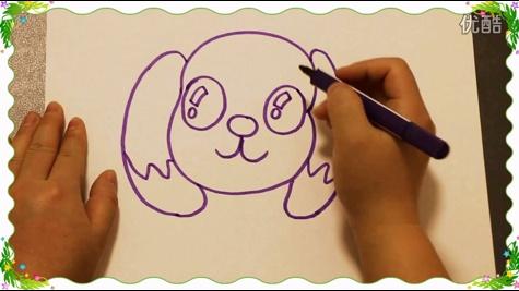 画大头狗,教儿童画画简笔画技巧教程,怎么教小孩绘画画入门基础教学