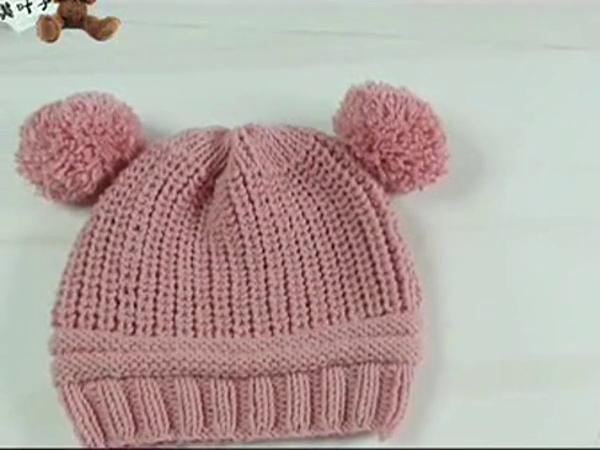 钩针编织花样集锦 编织视频教程双球球宝宝帽2