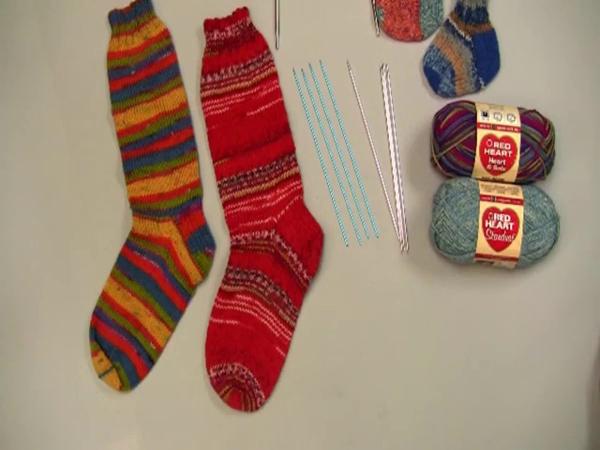 毛线袜子编织视频 编织袜子的技巧织毛衣花样棒针毛线