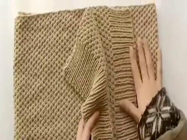 织围巾花样和图解 玉米粒围巾织法教程