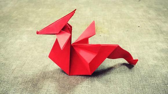 纸在乎你 手工折纸:火龙折纸视频图解