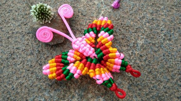 手工编织挂饰必备 ——蝴蝶小饰品,你若盛开,蝴蝶自来