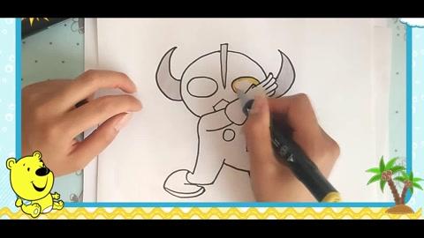 43 教你如何画凯蒂猫简笔画幼儿亲子儿童绘画教程 08:37 赛罗奥特曼