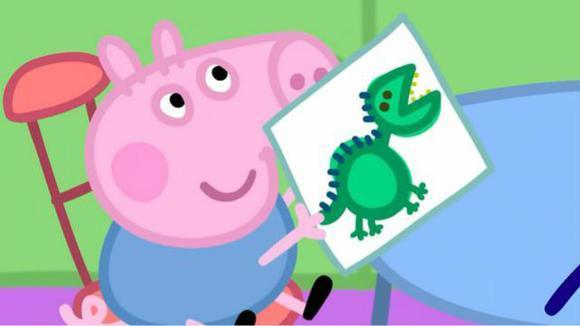 小猪佩奇 粉红猪小妹 画恐龙 59