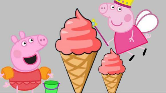 乔治小猪佩奇可口的冰淇淋雪糕彩泥制作 佩佩猪黏土