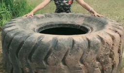 挑战大轮胎