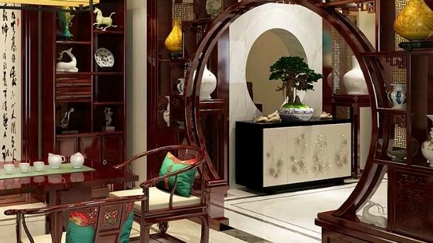 中式茶室装修设计,欲来一杯无