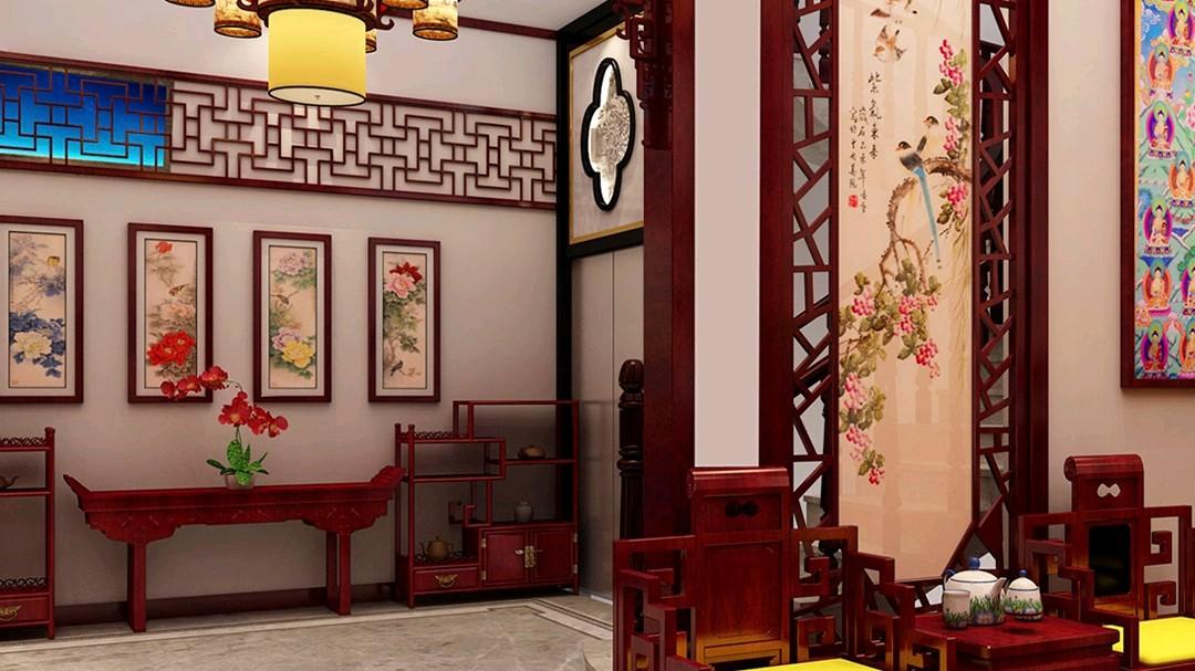 湖南田先生家的中国风装修,玄关极美
