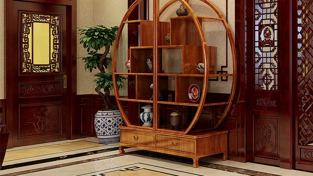 传统中式装修,走廊+茶室+客厅