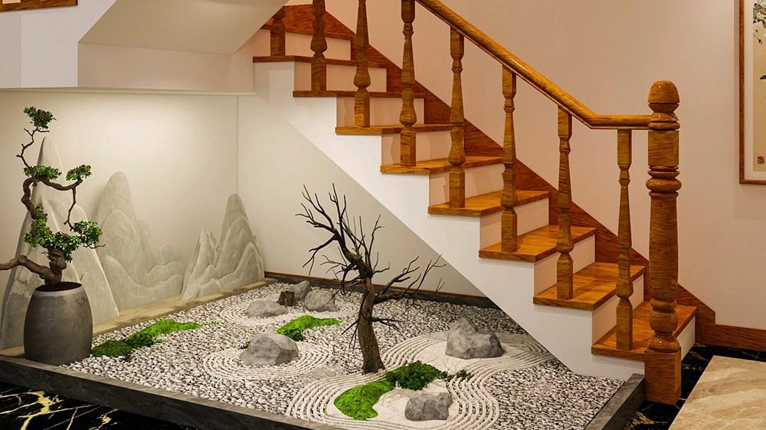 中式纯木质楼梯,土豪家都需要的高档定制