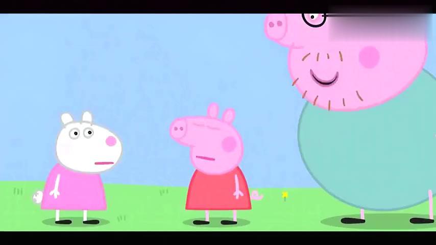 天气很好,社会猪佩奇和小羊苏西比赛打高尔夫,它们两个谁会赢