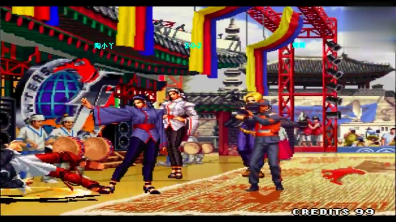 拳皇97 小丫的神乐千鹤是怎么样都赢不了辉辉的千鹤的
