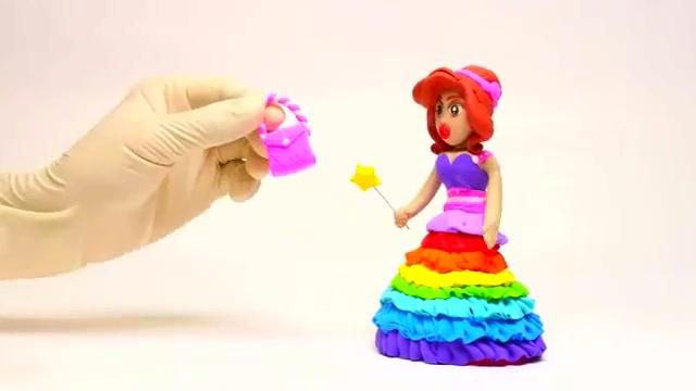 橡皮泥趣动画:艾莎公主喜欢漂亮彩色高跟鞋