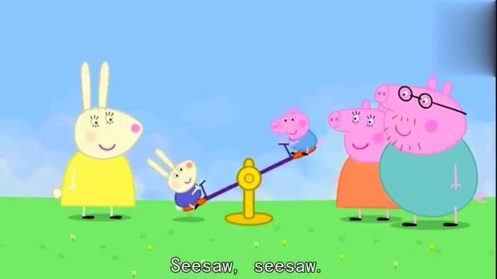 粉红色猪小妹:小猪佩奇和小兔子贝蕾卡一家找到了游乐