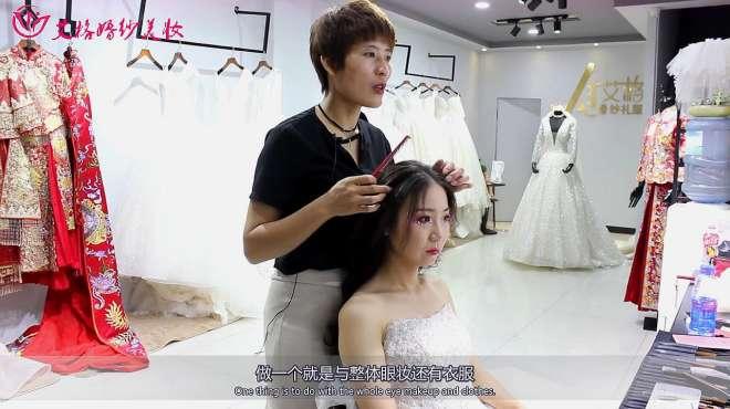 新娘妆:发型的搭配也很重要,大家快来看看是不是非常漂亮呀