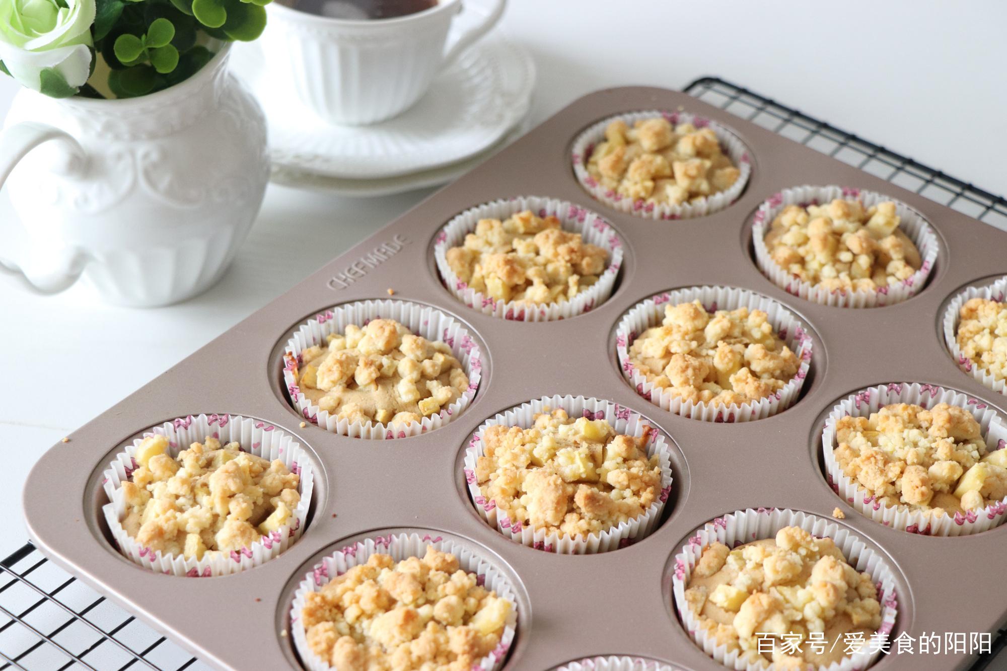 咖啡店甜品,玛芬蛋糕在家轻松做,一个盆搅一搅,做出美味小蛋糕