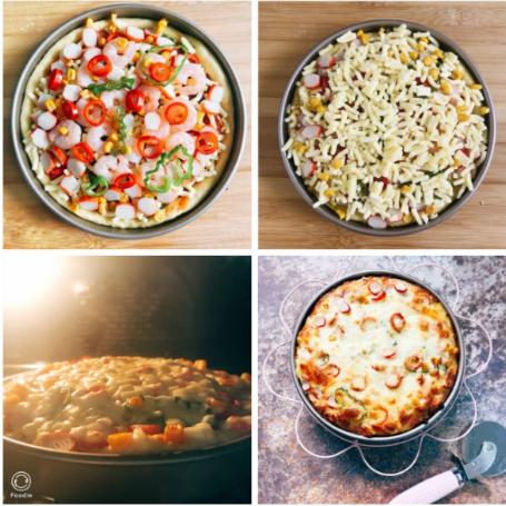 披萨也家常,3款做法简单的披萨做法,加上馅料,松软又拉丝