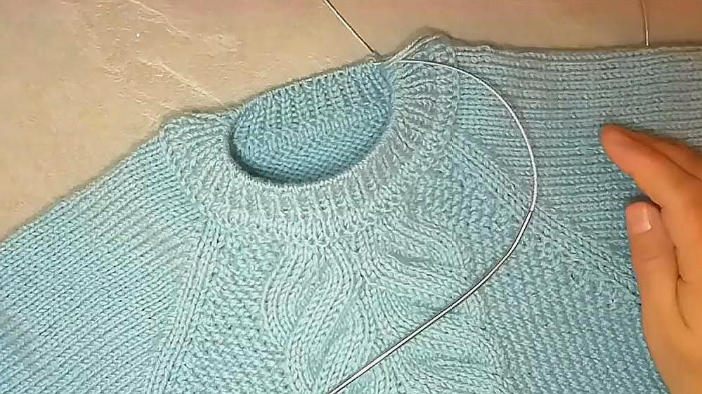 適合新手的毛衣圓低領口織法過程與技巧,太實用了