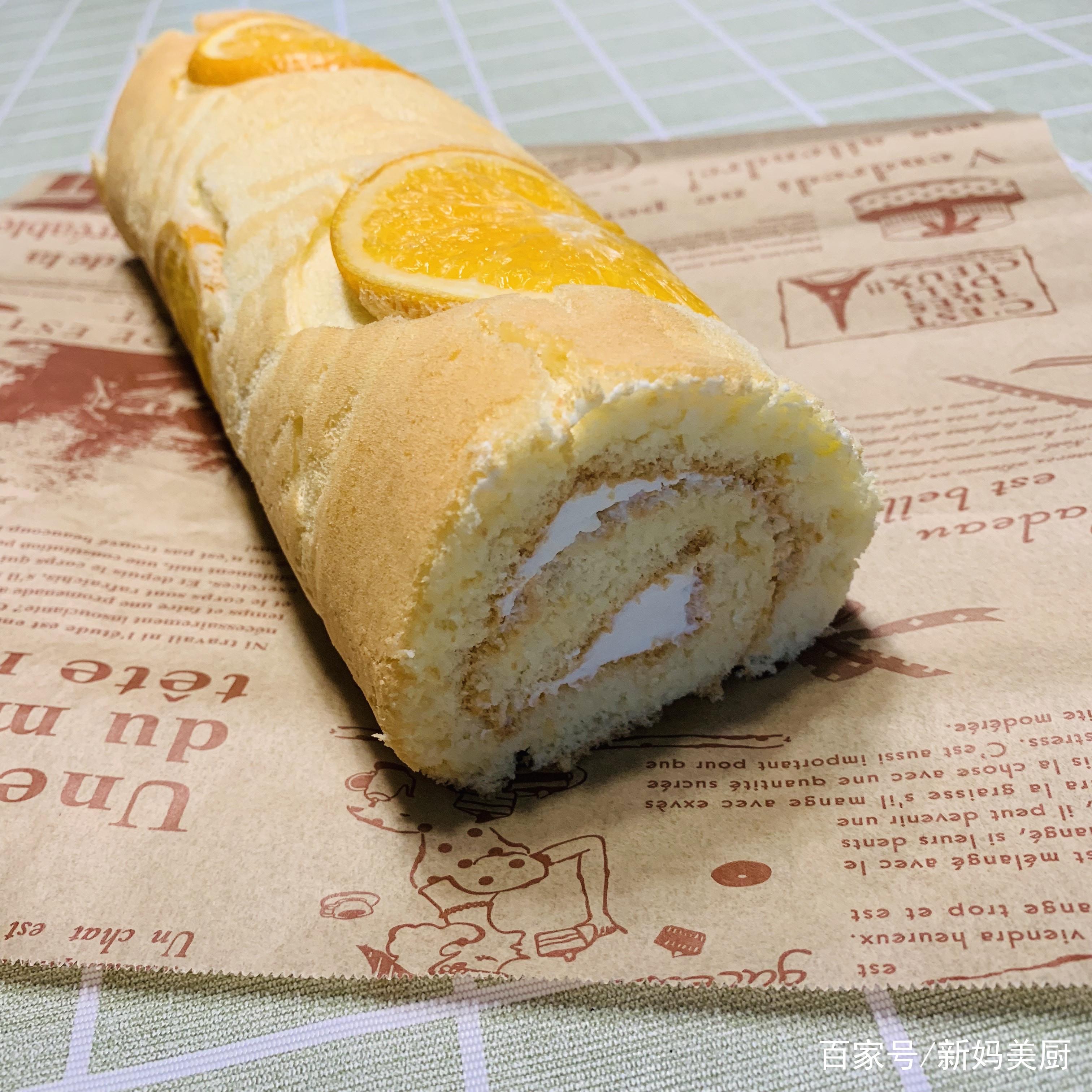 用黄澄澄的橙子给孩子做一道香橙蛋糕卷