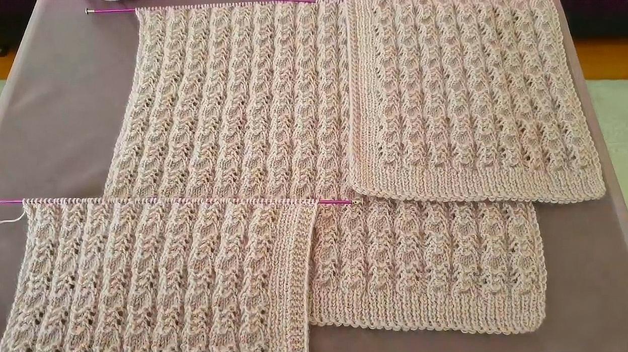 棒針編織漂亮的瓢蟲背心花樣,給長輩織毛衣特別合適