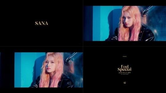 TWICE凑崎纱夏变身粉红发型 最新专辑《Feel Special》公开个人预告影像