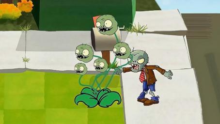 植物大战僵尸,僵尸拿出秘密武器,看看园主如何应对