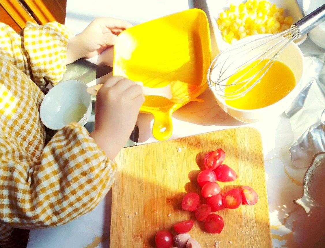 亲子烘焙,自制极简快手披萨~营养美味,带孩子一起动手做吧!