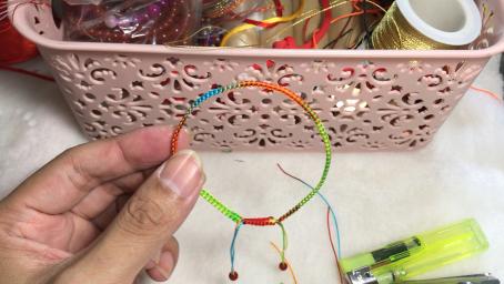平結五彩繩編織教程結尾教程來了你學會了嗎