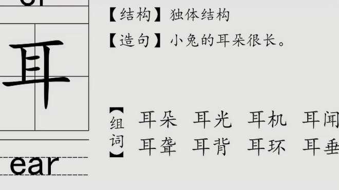 耳字拼音怎么写的?词组有哪些?一起来学习吧!
