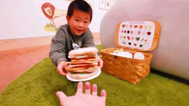 大头儿子vlog 制作超大三明治