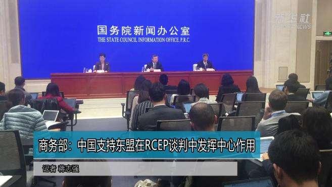 商务部:中国支持东盟在RCEP谈判中发挥中心作用