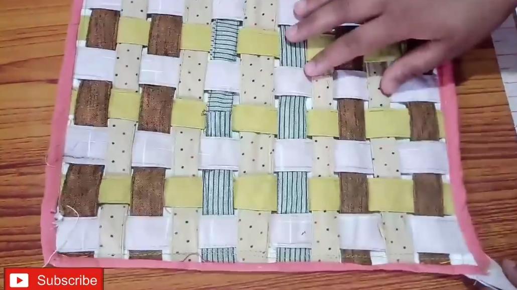 舊衣服回收,簡單編織地墊坐墊,沒有縫紉機都可以做到