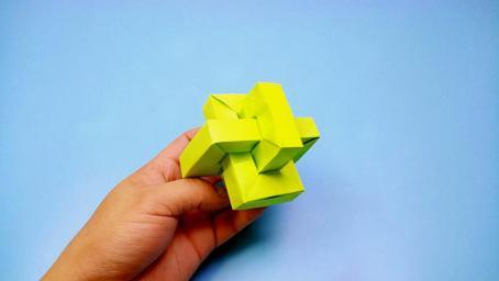 僅需幾張紙教你折一個神奇的魯班鎖,同學們見了羨慕不已
