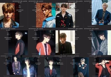 SEVENTEEN公开正式3rd专辑官方照片 白天和夜晚浪漫气氛