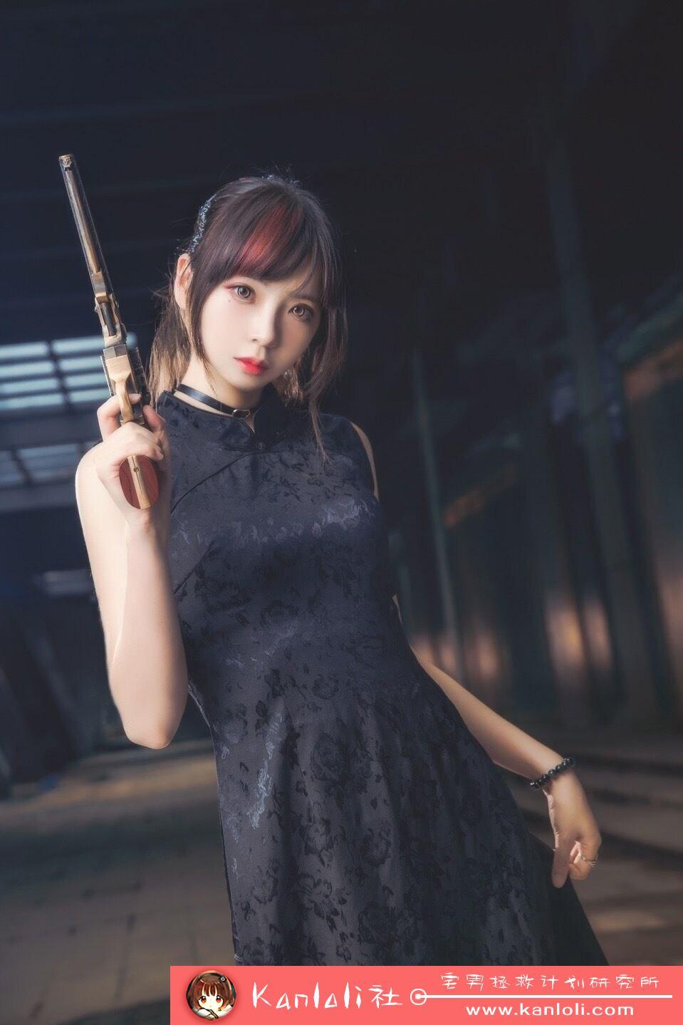【疯猫ss】疯猫ss写真-FM-003 超酷旗袍左轮cosplay [8P]