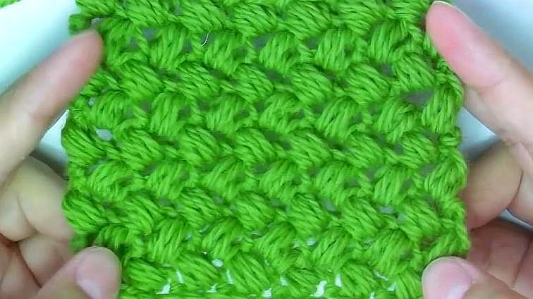 一款大氣實用的嬰兒毯子花樣鉤織,織寶寶帽子也很好看