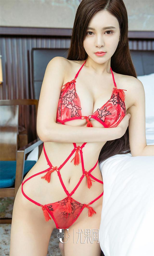 [尤果网] 性感美臀屁股美女Sunny酒店丁字裤写真 第77