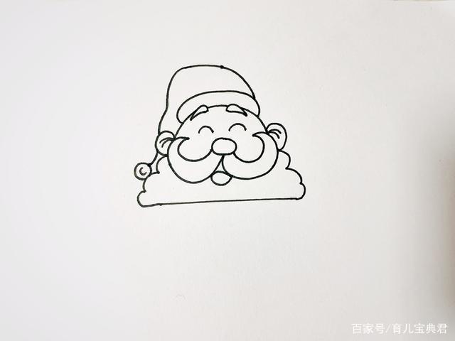 你们梦寐以求的圣诞老人简笔画来了!9步就画好,值得家长们收藏
