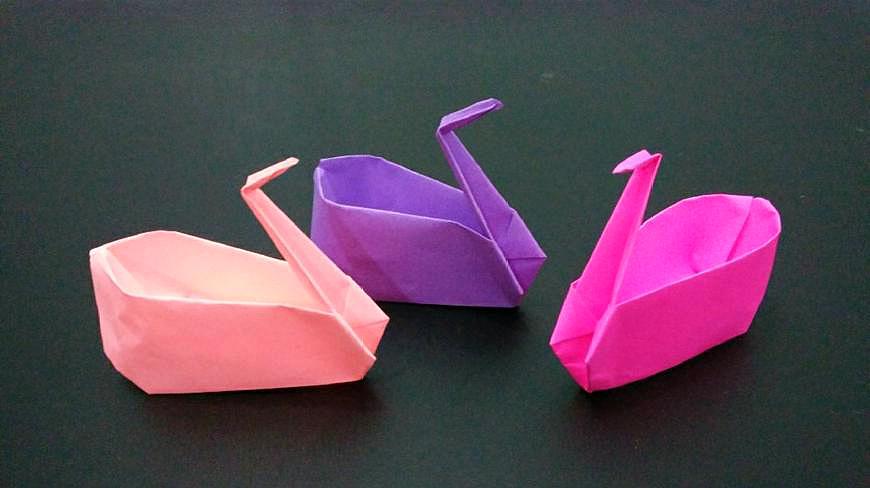 漂亮的千紙鶴收納盒你見過嗎?做法很簡單一下就學會,手工摺紙