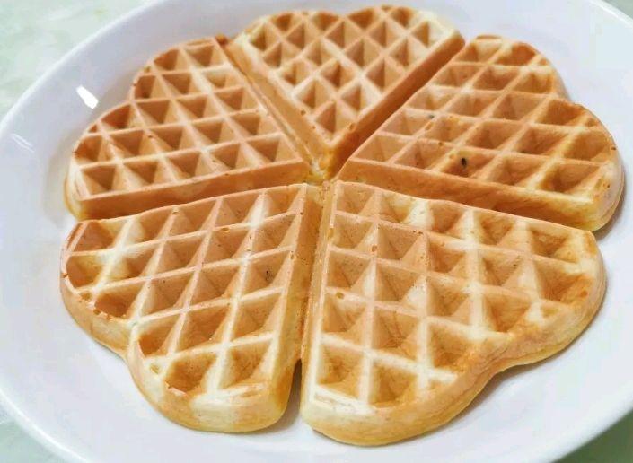超好吃华夫饼,两种做法,制作简单,搅匀即可,无华夫饼机也可以