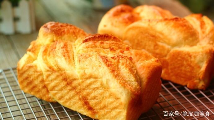 椰蓉吐司面包,当早餐跟点心都不错
