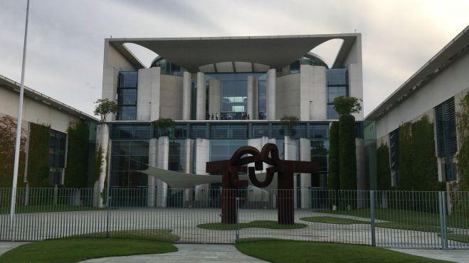 德国柏林市中心的德国总理府