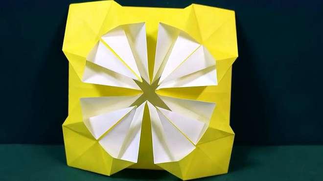 小女孩最喜欢的菊花,家长们赶紧做给孩子,国庆节简单折纸