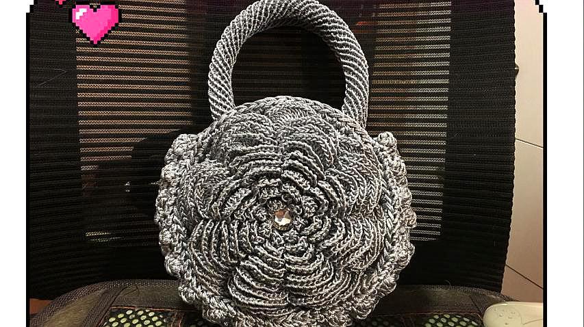 好看的包包自己一手打造,圓形花朵包(六)