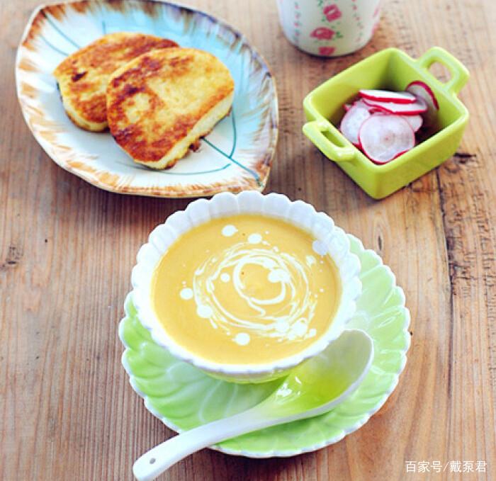 自制奶香南瓜羹,早餐降糖又美味