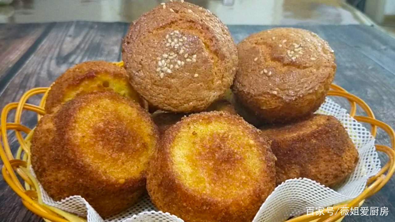 老式蛋糕最简单做法,全蛋打发就能做,无油无水,脆酥柔软真好吃